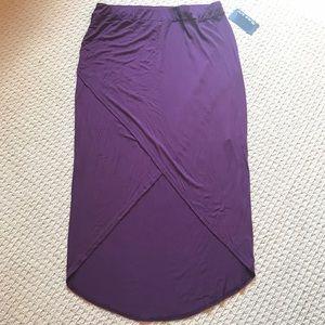 NWT! Pure Energy Plum Criss-Cross High Slit Skirt